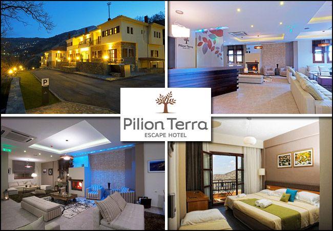 28η Οκτωβρίου στην Πορταριά Πηλίου, με 239€ για 4 ημέρες - 3 διανυκτερεύσεις με πρωινό στο Pilion Terra Escape Resort για 2 ενήλικες και 1 παιδί έως 3 ετών σε δίκλινο δωμάτιο με μπαλκόνι, δωρεάν χρήση αίθουσας γυμναστηρίου, παιδότοπου, αίθουσας ψυχαγωγίας (μπιλιάρδο, ping-pong, κ.α) και early check in - late check out! εικόνα