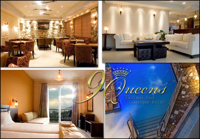 Διαμονή στα Λουτρά Αιδηψού στο 9 Queens Thermal Spa Boutique Hotel με 59€ ανά διανυκτέρευση σε δίκλινο δωμάτιο με πλούσιο παραδοσιακό πρωινό από ντόπια προϊόντα για 2 ενήλικες και 1 παιδί έως 6 ετών! Παρέχεται ελεύθερη χρήση του SPA (εξωτερική πισίνα με καταρράκτη και Prive Jacuzzi που περιέχουν 100% νερό από τις ιδιόκτητες θερμές ιαματικές πηγές), welcome drink καθώς και early check-in / late check-out! Δυνατότητα για αναβάθμιση στη Σουίτα Αφροδίτη με διπλό τζακούζι! Η προσφορά ισχύει για διαμονή έως 31 Μαΐου 2017 εικόνα