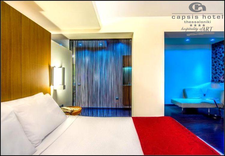 Πρωτοχρονια στην Θεσσαλονικη στο μεγαλυτερο city hotel της βορειας Ελλαδας 4* Capsis Hotel με 150€ για 3 ημερες – 2 διανυκτερευσεις με πρωινο σε δικλινο δωματιο για 2 ενηλικες και 1 παιδι εως 6 ετων! Διατιθενται ειδικα πακετα με Gala δειπνο, ζωντανη μουσικη και κρασι! Παρεχεται και προσφορα με Ημιδιατροφη (πρωινο και γευμα η δειπνο)! Η προσφορα ισχυει για διαμονη απο 30 εως 2 Ιανουαριου