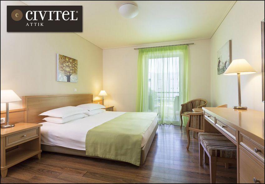 Διαμονή στην Αθήνα (Μαρούσι) στο Civitel Attik με 73€ ανά διανυκτέρευση με πρωινό σε δίκλινο δωμάτιο για 2 ενήλικες και 1 παιδί έως 4 ετών! Δυνατότητα και για επιπλέον διανυκτερεύσεις! Η προσφορά ισχύει από 23 Δεκεμβρίου έως 04 Ιανουαρίου. Ισχύει και για τα Χριστούγεννα - Πρωτοχρονιά