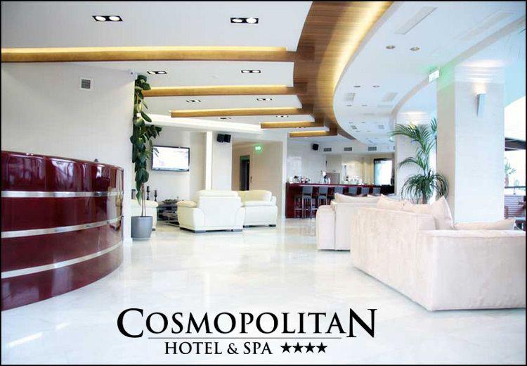 Θεοφάνεια στην Παραλία Κατερίνης στο 4* Cosmopolitan Hotel & Spa με 159€ για 3 ημέρες - 2 διανυκτερεύσεις ή με 225€ για 4 ημέρες - 3 διανυκτερεύσεις με Ημιδιατροφή (πρωινό και δείπνο σε μπουφέ) σε δίκλινο δωμάτιο για 2 ενήλικες και 1 παιδί έως 12 ετών με early check in - late check out! Η προσφορά ισχύει για διαμονή την
