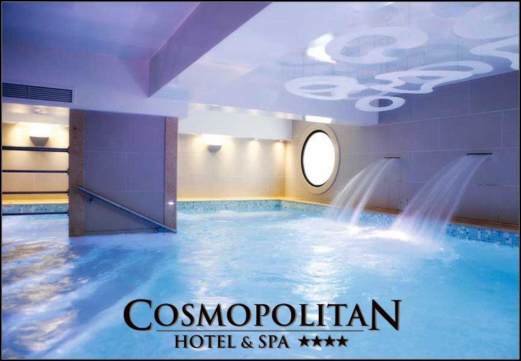 Διαμονη στην Παραλια Κατερινης στο 4* Cosmopolitan Hotel & Spa με 70€ ανα διανυκτερευση με πρωινο σε δικλινο δωματιο για 2 ενηλικες και 1 παιδι εως 12 ετων! Ελευθερη προσβαση στο χωρο του SPA που περιλαμβανει εσωτερικη θερμαινομενη Πισινα, Σαουνα, Χαμαμ και Γυμναστηριο καθως και 25% εκπτωση σε θεραπειες μασαζ! Η προσφορα ισχυει για διαμονη τον Οκτωβριο! Η προσφορα ισχυει και για το τριημερο της 28ης Οκτωβριου!