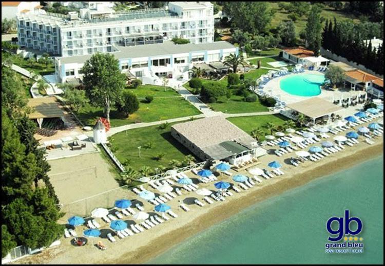 Διαμονη στην Ερετρια Ευβοιας στο Grand Bleu Sea Resort μολις 1,5 ωρα απο την Αθηνα με 120€ για 2 η 150€ για 3 διανυκτερευσεις με Ημιδιατροφη (πρωινο και δειπνο σε μπουφε) σε δικλινο δωματιο και για τους 2 ενηλικες και 1 παιδι εως 12 ετων! Ελευθερη χρηση των εγκαταστασεων της πισινας, της παραλιας (ομπρελες – ξαπλωστρες) και των γηπεδων τενις, μπασκετ, ποδοσφαιρου, mini γκολφ, beach volley! Καθημερινες δραστηριοτητες για παιδια (mini clu…