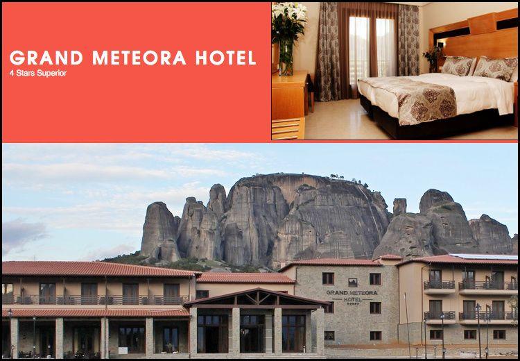 Διαμονη στο 4* Grand Meteora Hotel στην Καλαμπακα με 159€ για 3 ημερες – 2 διανυκτερευσεις με πρωινο και 1 Γευμα η Δειπνο σε δικλινο δωματιο με θεα τα Μετεωρα για 2 ενηλικες και 1 παιδι εως 3 ετων! Η προσφορα ισχυει για διαμονη εως 27 Απριλιου