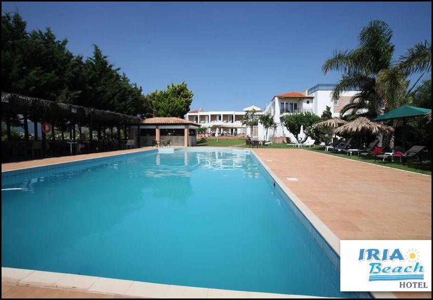 Διαμονη στα Ίρια Ναυπλιου στο Iria Beach Hotel με 354€ για 4 διανυκτερευσεις με Ημιδιατροφη (καθημερινα πλουσιο πρωινο και γευμα η δειπνο σε μπουφε) σε δικλινο δωματιο με θεα θαλασσα για 2 ενηλικες και 1 παιδι εως 7 ετων! Η προσφορα ισχυει για διαμονη απο 15 Ιουνιου εως 25 Αυγουστου