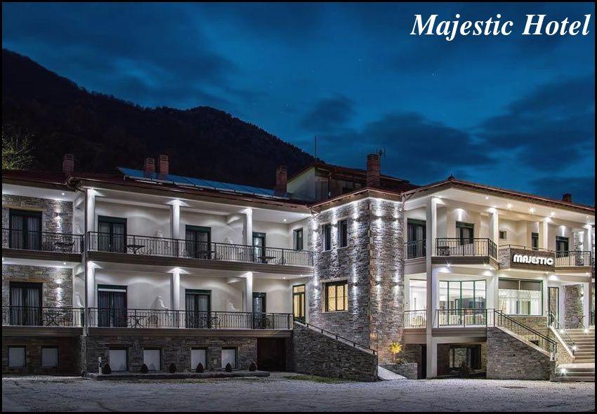 28η Οκτωβριου στα Λουτρα Ποζαρ στο ολοκαινουριο Majestic Hotel με 70€ ανα διανυκτερευση με πρωινο σε δικλινο δωματιο για 2 ενηλικες και 1 παιδι εως 6 ετων! Παρεχεται early check-in / late check-out κατοπιν διαθεσιμοτητας! Η προσφορα ισχυει για διαμονη απο 28 εως 30 Οκτωβριου