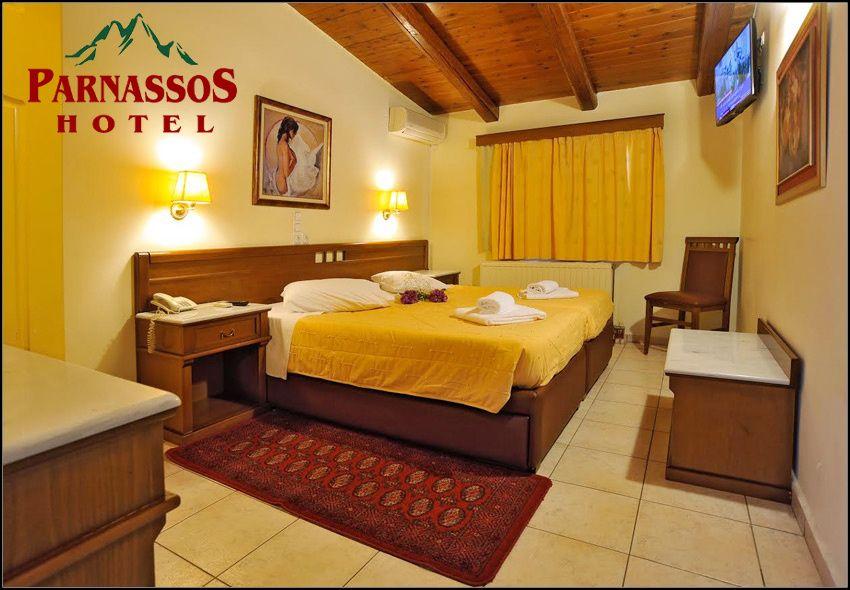 Διαμονή στoυς Δελφούς στο Parnassos Delphi Hotel με 79€για 3 ημέρες - 2 διανυκτερεύσεις με πρωινό σε δίκλινο δωμάτιο για 2 ενήλικες και 1 παιδί έως 3 ετών και early check in - late check out!Η προσφορά ισχύει για διαμονή έως 29 Φεβρουαρίου