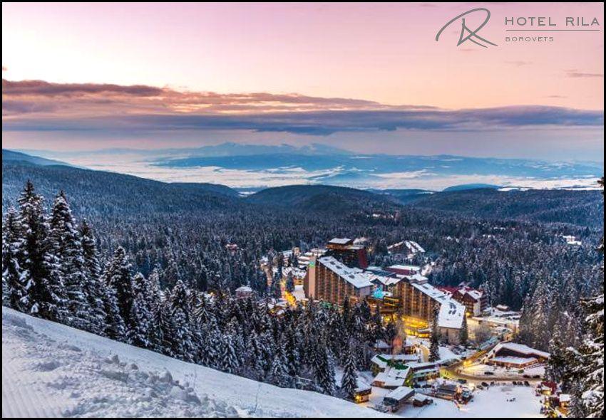 Χριστούγεννα στo Borovets στη Βουλγαρία, στο 4* Rila Hotel με 500€ για 4 ημέρες - 3 διανυκτερεύσεις με Πλήρη Διατροφή (πρωινό, γεύμα και δείπνο σε μπουφέ) σε δίκλινο δωμάτιο για 2 ενήλικες!Δωρεάν ποτό κατά την διάρκεια των γευμάτων! Ανήμερα Χριστουγέννων προσφέρεται Χριστουγεννιάτικο Δείπνο! Tip: Το Borovets γνωστό για τη φυσική του ομορφιά και το μεγάλο χιονοδρομικό του κέντρο, αποτελεί ένα από τα δημοφιλέστερα χειμερινά θέρετρα της Βουλγαρίας και βρίσκεται σε απόσταση 2,5 περίπου ωρών από τον συνοριακό σταθμό του Προμαχώνα Σερρών και 1 ώρας περίπουοδικώς από το αεροδρόμιο της Σόφιας. Η προσφορά ισχύει για διαμονή από 23 έως 27 Δεκεμβρίου εικόνα