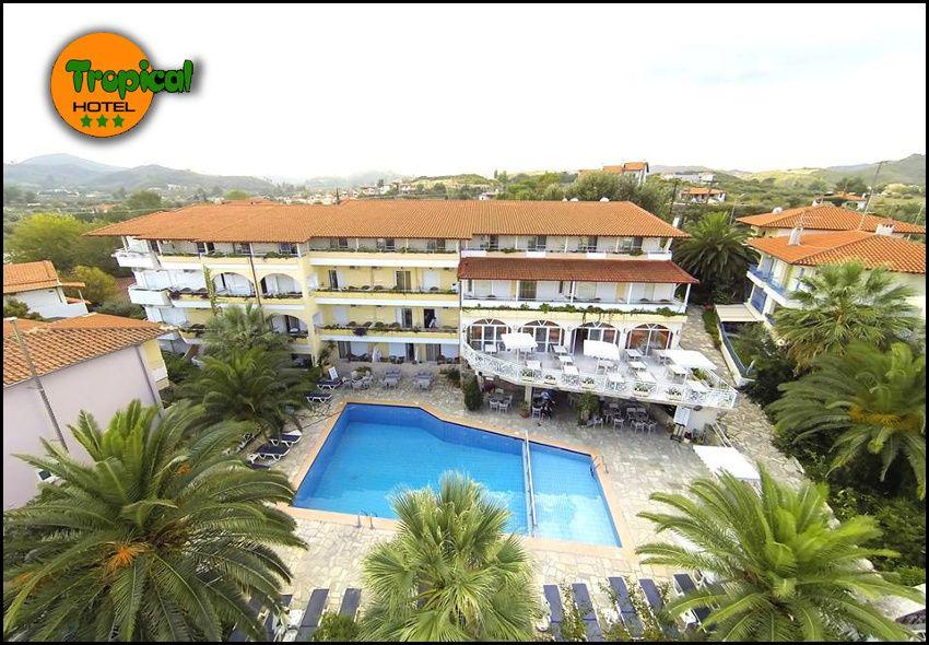 Διαμονη στη Χαλκιδικη στο Tropical Hotel με 47€ ανα διανυκτερευση με Ημιδιατροφη σε δικλινο δωματιο για 2 ενηλικες και 1 παιδι εως 12 ετων! Kαθημερινα πλουσιο πρωινο και δειπνο σε μπουφε! Παρεχεται early check in – late check out! Δυνατοτητα αναβαθμισης σε Σουιτα, για διαμονη 2ου παιδιου, κατοπιν διαθεσιμοτητας! Η προσφορα ισχυει για διαμονη απο 10 εως 30 Σεπτεμβριου